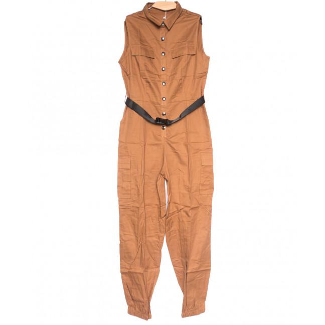 8381 коричневый Saint Wish комбинезон текстильный летний стрейчевый (S-2XL, 5 ед.) Saint Wish: артикул 1108257