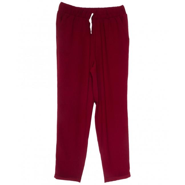 0222 бордовые Exclusive брюки женские спортивные батальные летние стрейчевые (50-54, 3 ед.) Exclusive: артикул 1109486