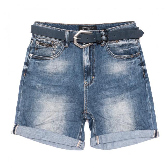 9415 Dmarks шорты джинсовые женские батальные с царапками синие коттоновые (31-38, 6 ед.) Dmarks: артикул 1108600
