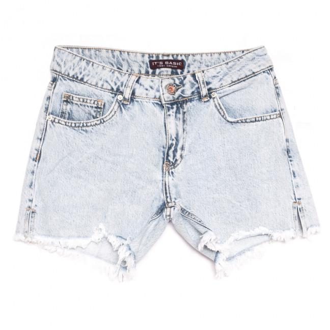 1161 Snow Its Basic шорты джинсовые женские синие коттоновые (34-42,евро, 6 ед.) Its Basic: артикул 1108434