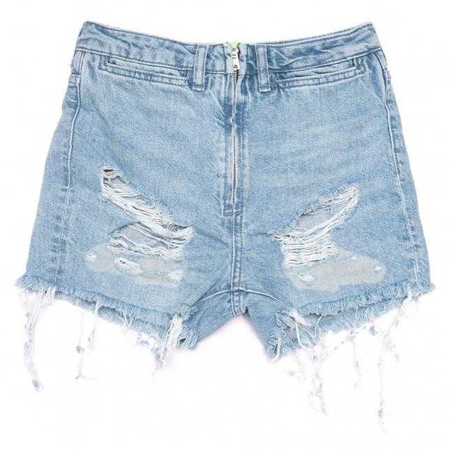 0225 шорты джинсовые женские с рванкой синие коттоновые (25-32, 5 ед.) Джинсы: артикул 1109196