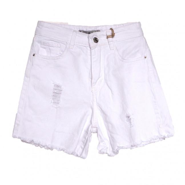 0203 Dobre шорты джинсовые женские белые стрейчевые (34-40,евро, 8 ед.) Dobre: артикул 1108977