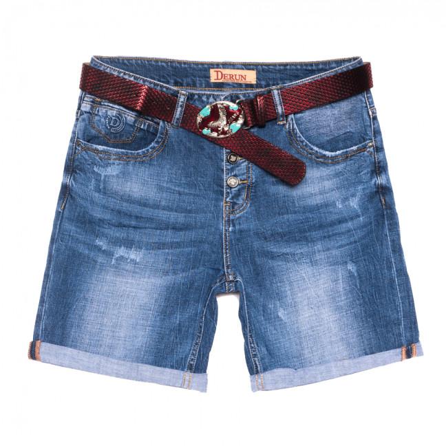 7075 Vanver шорты джинсовые женские батальные с царапками синие стрейчевые (30-36, 6 ед.) Vanver: артикул 1108624