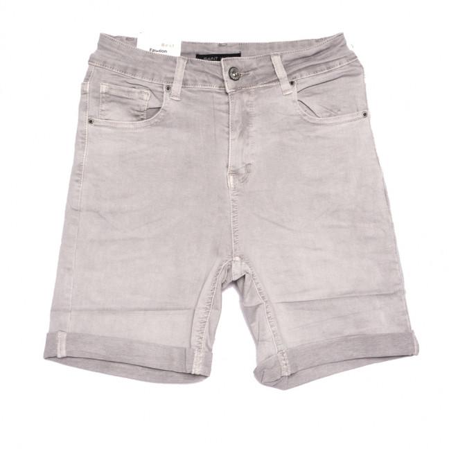9031-8 серые Saint Wish шорты джинсовые женские полубатальные стрейчевые (28-33, 6 ед.) Saint Wish: артикул 1108216