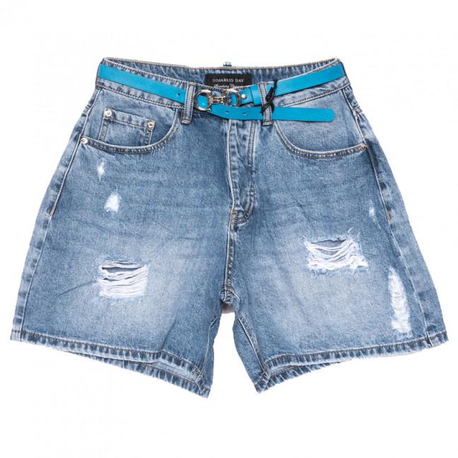 6159 Dmarks шорты джинсовые женские с рванкой синие коттоновые(25-30, 6 ед.) Dmarks: артикул 1108595