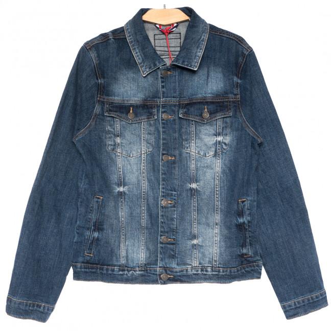 0732 Disqunew куртка джинсовая мужская полубатальная синяя весенняя стрейчевая (L-5XL, 6 ед.) Disqunew: артикул 1109580