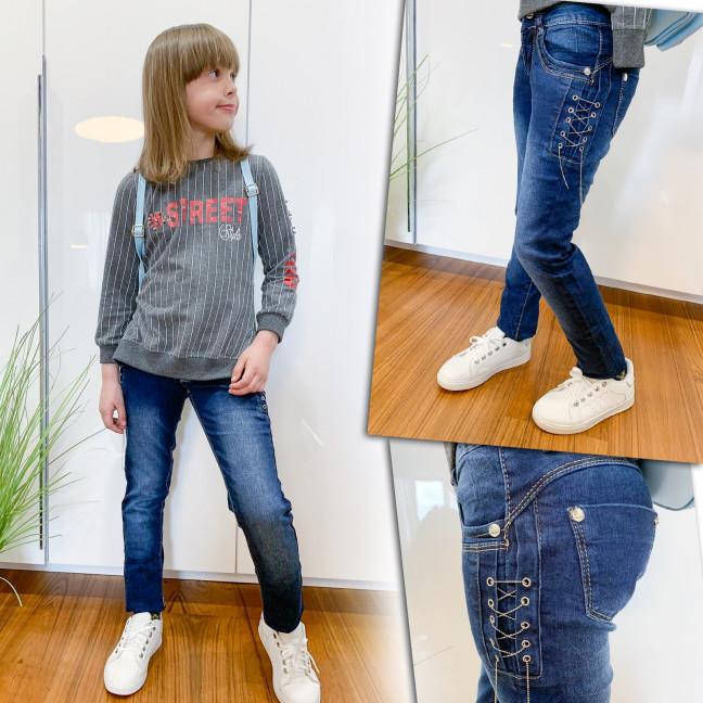 2085 Lafeidina джинсы на девочку с декоративной отделкой весенние стрейчевые (21-27, 7 ед.) Lafeidina: артикул 1109281
