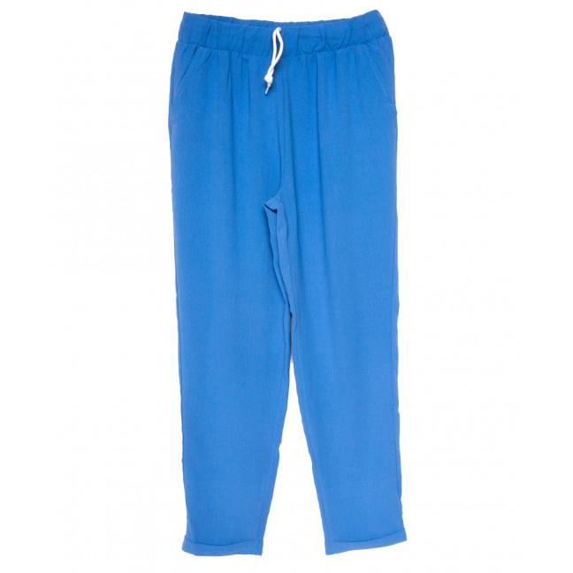 0222 темно-голубые Exclusive брюки женские спортивные батальные летние стрейчевые (50-54, 3 ед.) Exclusive: артикул 1109488
