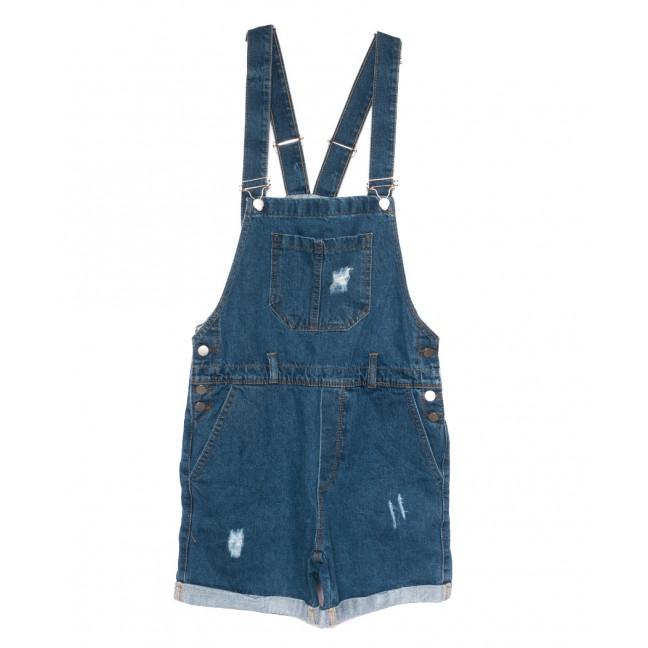 0228 синий Defile комбинезон-шорты джинсовый женский с царапками коттоновый (S-L, 5 ед.) Defile: артикул 1109483