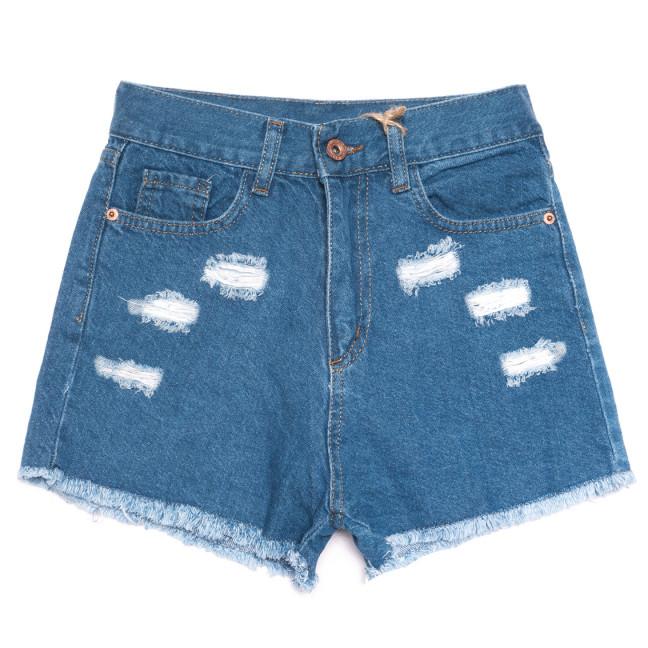 0207 Dobre шорты джинсовые женские с рванкой синие коттоновые (32-42,евро, 8 ед.) Dobre: артикул 1108945