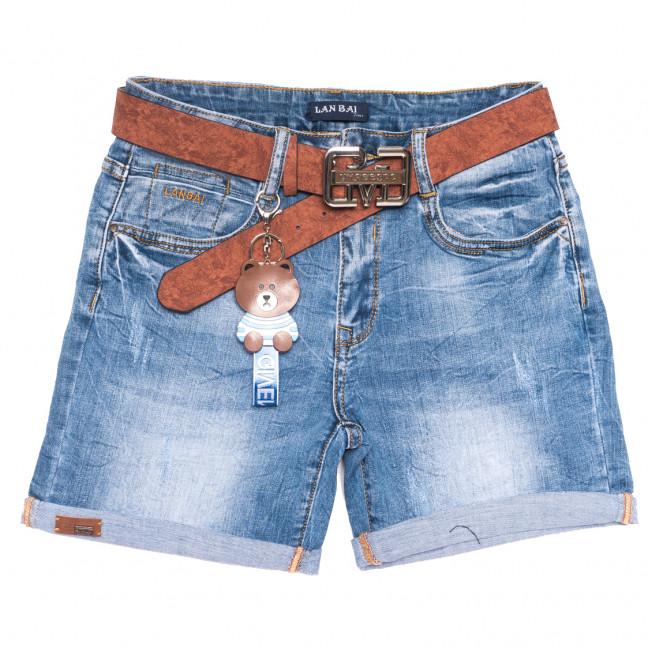 0167 Lan Bai шорты джинсовые женские батальные синие стрейчевые (30-36, 6 ед.) Lan Bai: артикул 1108917