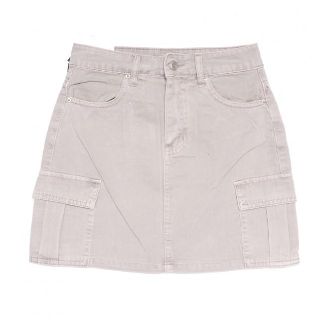 9055-8 серая Saint Wish юбка джинсовая летняя коттоновая (XS-XL, 5 ед.) Saint Wish: артикул 1108233