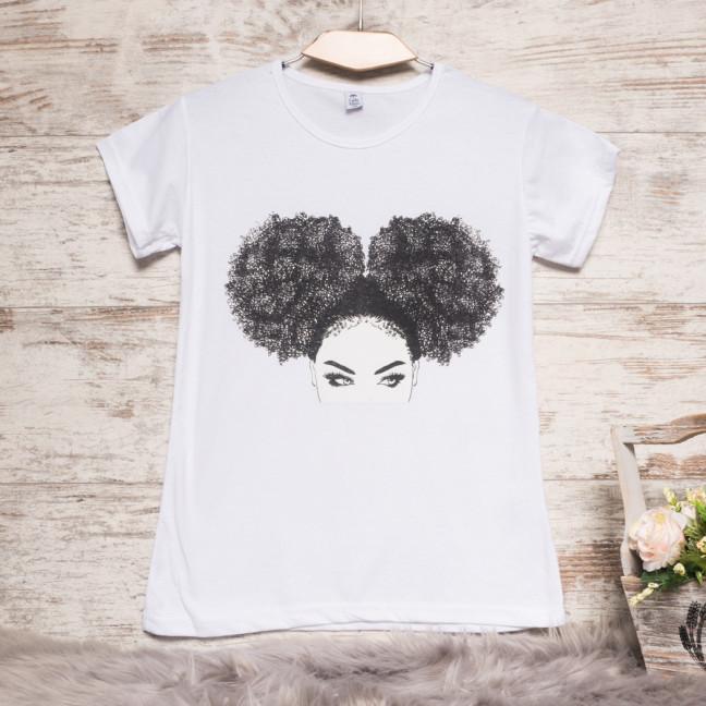 3207-3 белая Carla Mara футболка женская с принтом стрейчевая (S-XL, 6 ед.) Carla Mara: артикул 1108875