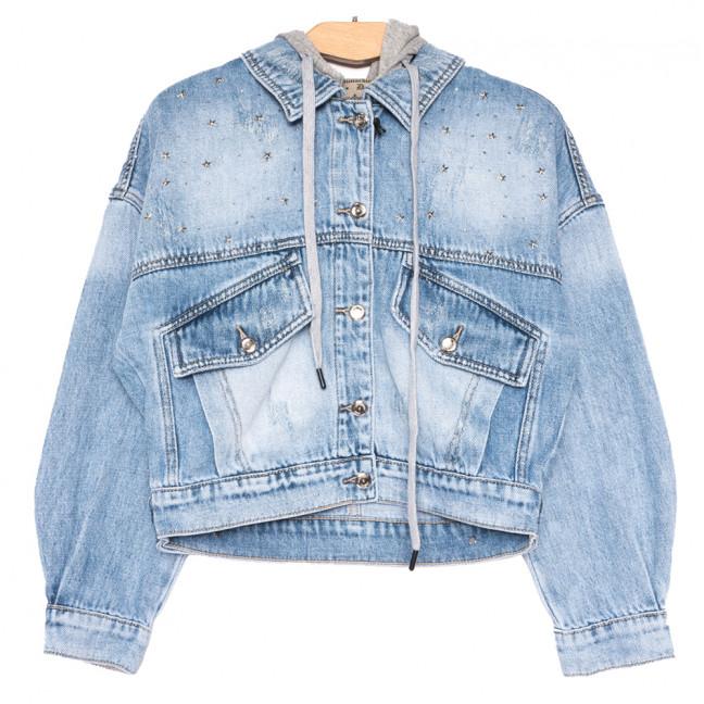 3074 Dimarkis Day куртка джинсовая женская синяя весенняя коттоновая (S-XL, 5 ед.) Dimarkis Day: артикул 1109571
