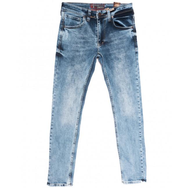 6691 Fashion Red джинсы мужские с царапкой синие весенние стрейчевые (29-36, 8 ед.) Fashion Red: артикул 1108718
