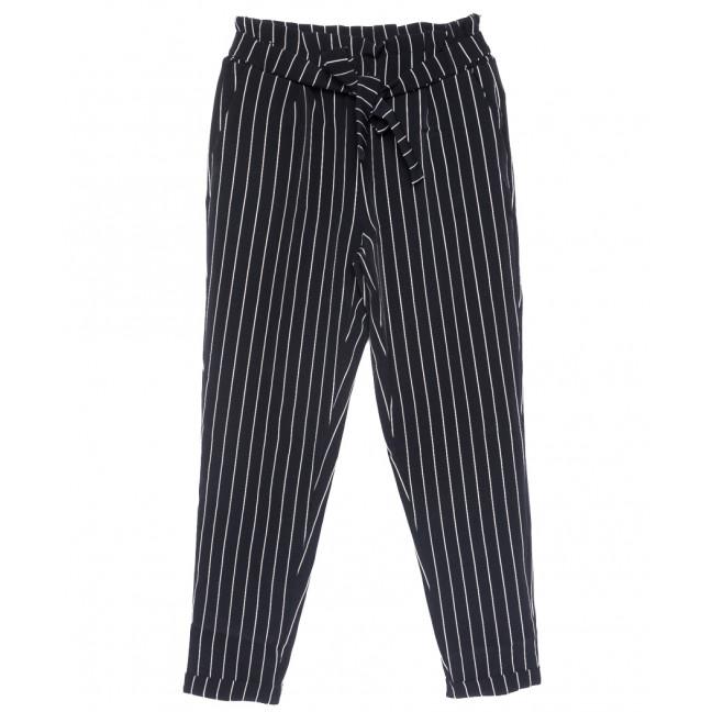 0256 темно-синие Exclusive брюки женские батальные в полоску летние коттоновые (50-54, 3 ед.) Exclusive: артикул 1109514