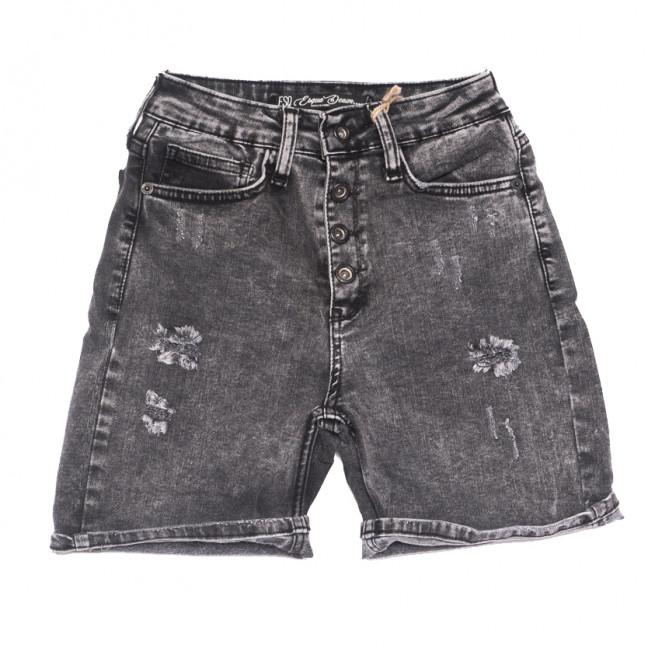 3130 Esqua шорты джинсовые женские с рванкой серые стрейчевые (26-31, 6 ед.) Esqua: артикул 1108415
