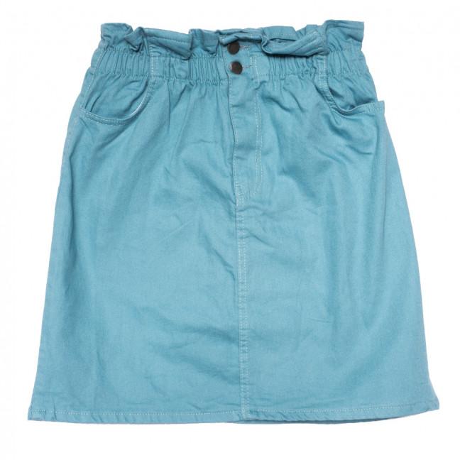 0227 бирюзовая Defile юбка джинсовая коттоновая (34-40,евро, 6 ед.) Defile: артикул 1109481