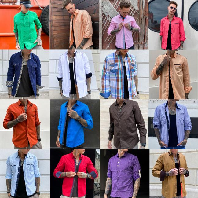 71131 Noseda микс рубашек мужских разных моделей, цветов и размеров (20 ед.) #партнер10 Noseda: артикул 1114758