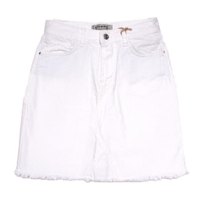 0108 Dobre юбка джинсовая белая коттоновая (25-30, 8 ед.) Dobre: артикул 1109203