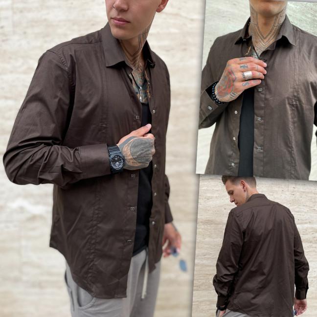 7364-1 Noseda рубашка мужская коричневая (3XL-6XL, 4 ед.) Noseda: артикул 1109381