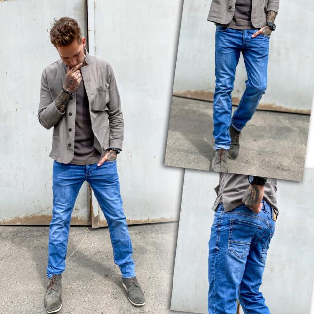 5896 Black Lee джинсы мужские синие весенние стрейчевые (30-36, 7 ед.) Black Lee: артикул 1109259