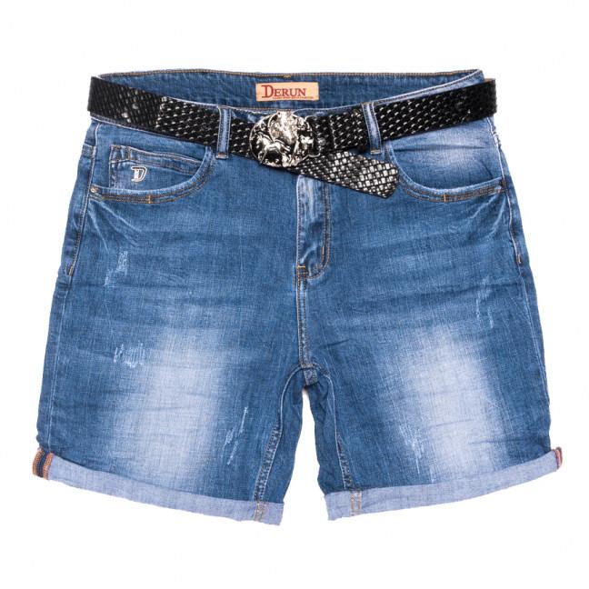 7082 Derun шорты джинсовые женские батальные с царапками синие стрейчевые (32-42, 6 ед.) Derun: артикул 1108616