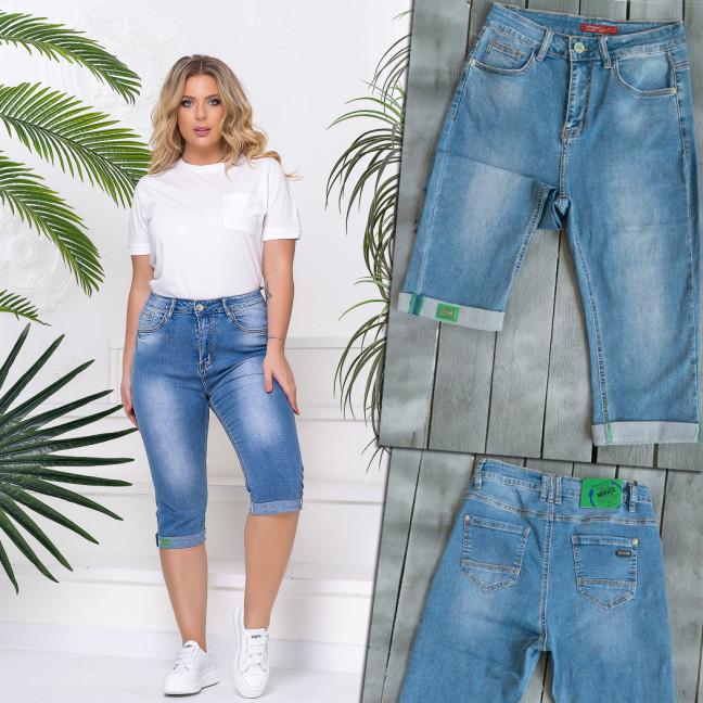 8396 Vanver шорты джинсовые женские батальные голубые стрейчевые (6 ед. размеры: 31.32.33.34.36.38) Vanver: артикул 1110249