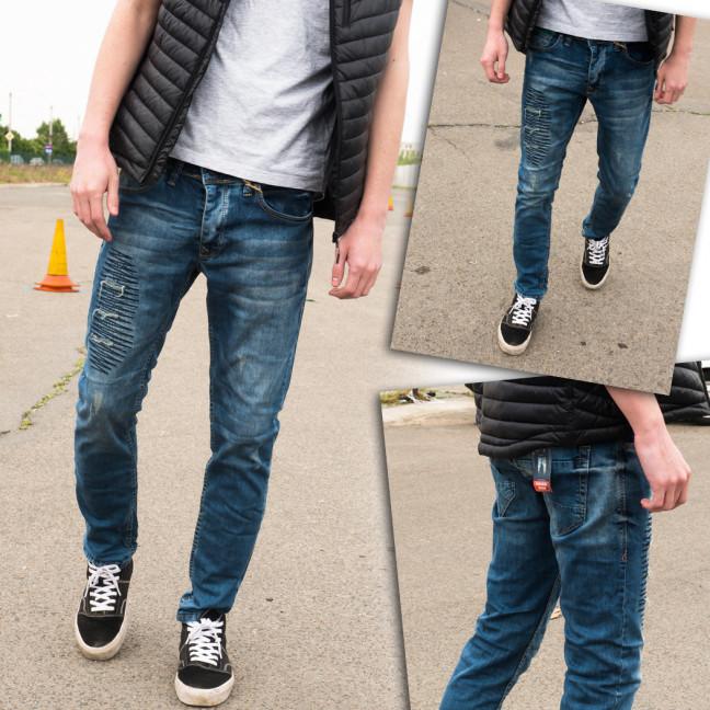 4209 Fashion Red джинсы мужские с рванкой синие весенние стрейчевые (29-36, 8 ед.) Fashion Red: артикул 1109138