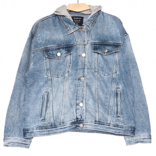 3067 Dimarkis Day куртка джинсовая женская полубатальная синяя весенняя коттоновая (XL-5XL, 5 ед.) Dimarkis Day: артикул 1109570