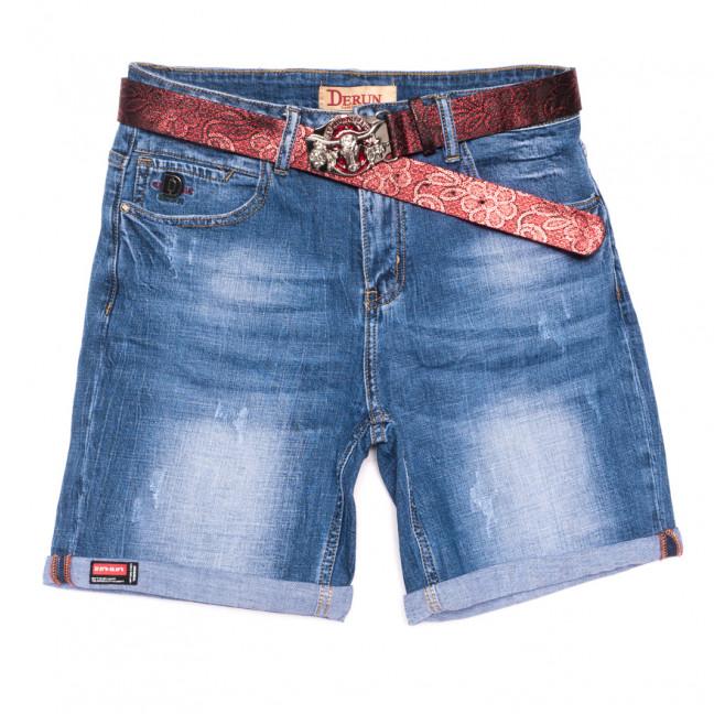 7076 Derun шорты джинсовые женские батальные с царапками синие стрейчевые (31-38, 6 ед.) Derun: артикул 1108620