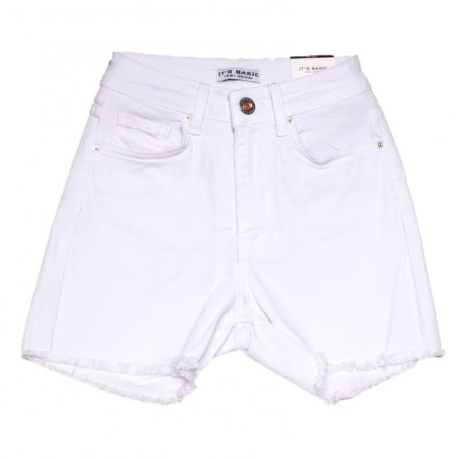 1491 белые Its Basic шорты джинсовые женские стрейчевые (32-40,евро, 6 ед.) Its Basic: артикул 1108421