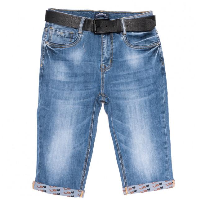 0169 Lan Bai шорты джинсовые женские батальные синие стрейчевые (30-36, 6 ед.) Lan Bai: артикул 1108919