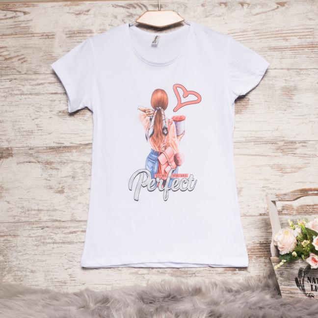 Белая женская футболка с принтом Akkaya 3202-4 Akkaya: артикул 1110644