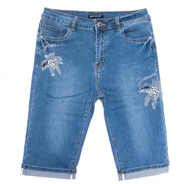 9485 LDM шорты джинсовые женские батальные синие стрейчевые (31-38, 6 ед.) LDM: артикул 1108911