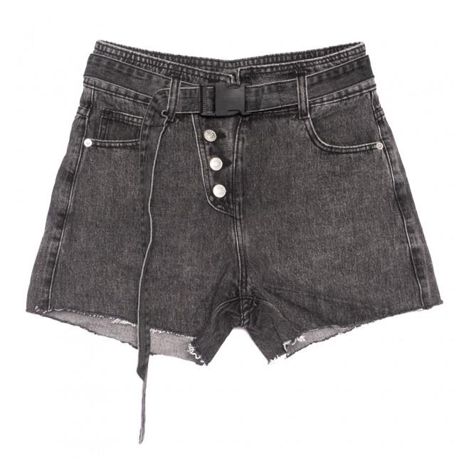 9110 Saint Wish шорты джинсовые женские на пуговицах серые коттоновые (25-30, 6 ед.) Saint Wish: артикул 1108254
