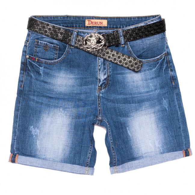 7071 Derun шорты джинсовые женские батальные с царапками синие стрейчевые (32-42, 6 ед.) Derun: артикул 1108611