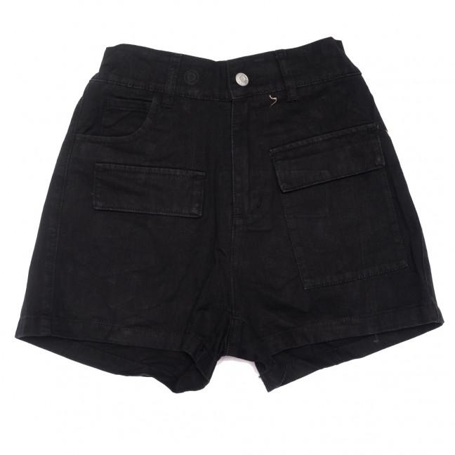 9075-1 черные Saint Wish шорты джинсовые женские стрейчевые (XS-XL, 5 ед.) Saint Wish: артикул 1108231