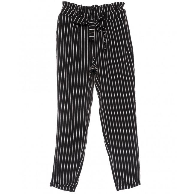0004 черные Exclusive брюки женские в полоску осенние коттоновые (42-48,евро, 4 ед.) Exclusive: артикул 1109511