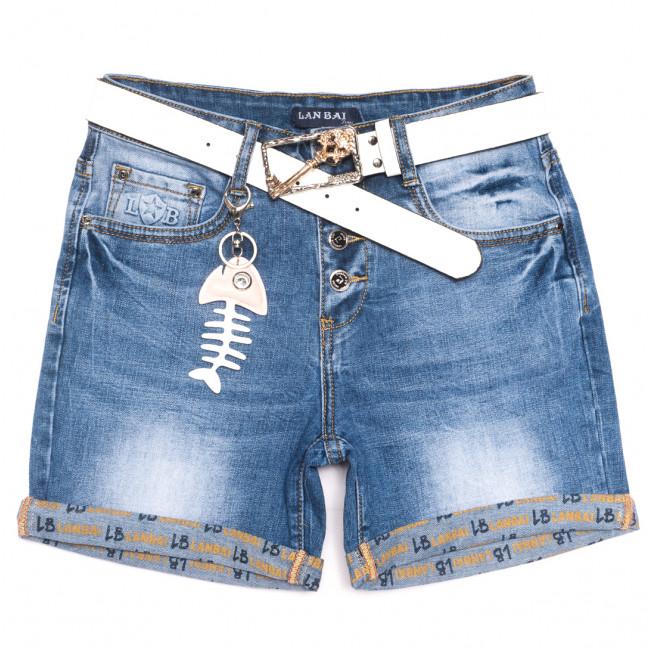 0159 Lan Bai шорты джинсовые женские полубатальные синие стрейчевые (28-33, 6 ед.) Lan Bai: артикул 1108930