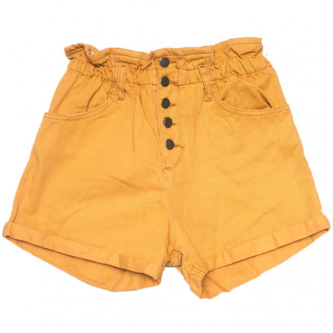 0226 горчичные Defile шорты джинсовые женские на резинке коттоновые (34-40,евро, 6 ед.) Defile: артикул 1109473