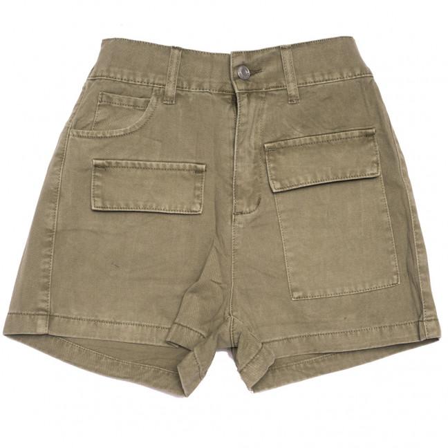 9075-11 хаки Saint Wish шорты джинсовые женские стрейчевые (XS-XL, 5 ед.) Saint Wish: артикул 1108243