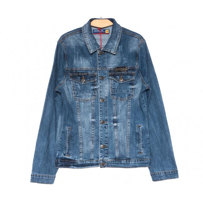 0718 Araninew куртка джинсовая мужская синяя весенняя стрейчевая (М-4XL, 6 ед.) Araninew: артикул 1109578