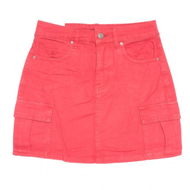9055-9 красная Saint Wish юбка джинсовая летняя коттоновая (XS-XL, 5 ед.) Saint Wish: артикул 1108235