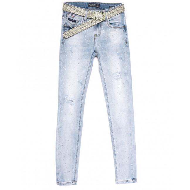 8837 Lolo Blues джинсы женские с рванкой синие весенние стрейчевые (25-30, 6 ед.) Lolo Blues: артикул 1108506