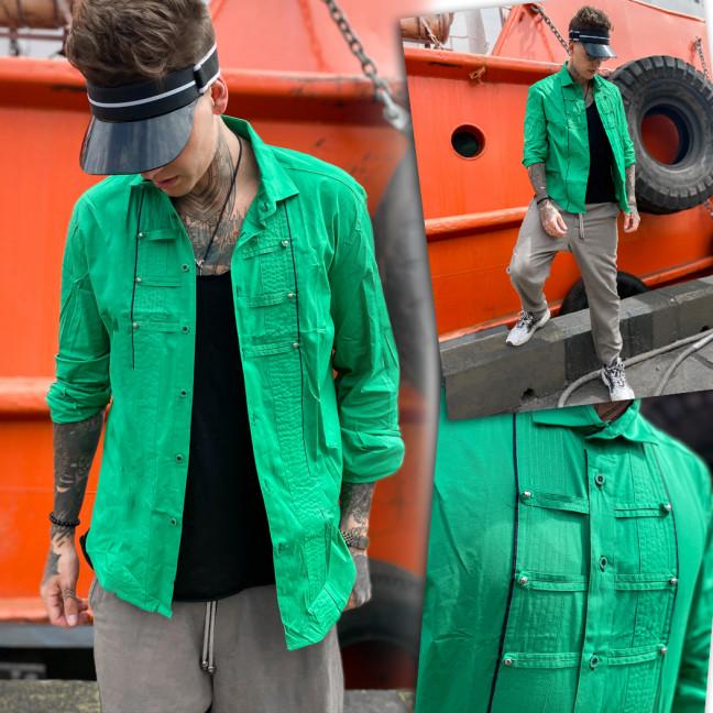 7079 Noseda рубашка мужская зеленая (S-XXL, 5 ед.) Noseda: артикул 1109224
