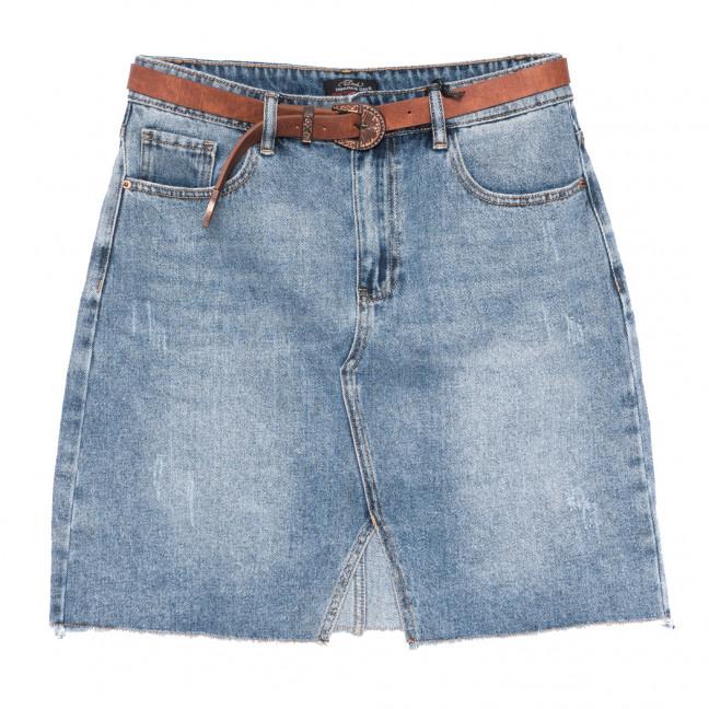 8012 Dimarkis Day юбка джинсовая полубатальная с царапками синяя коттоновая (28-33, 6 ед.) Dimarkis Day: артикул 1109099