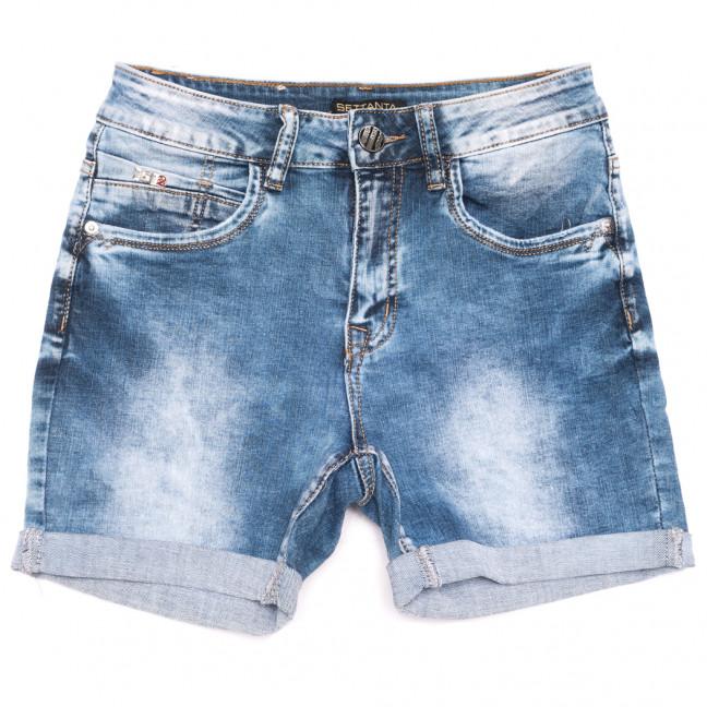 0510-В Settanta шорты джинсовые женские полубатальные синие стрейчевые (28-33, 6 ед.) Settanta: артикул 1109107