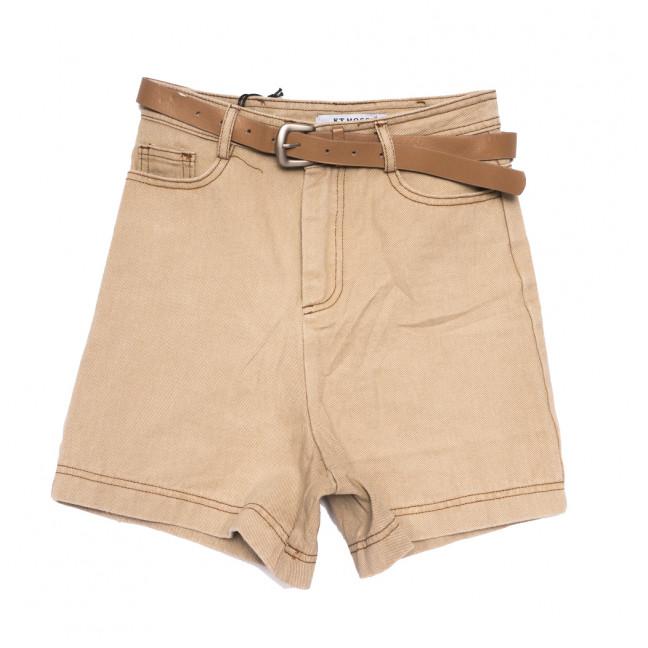 0457 KT.Moss шорты джинсовые женские бежевые коттоновые (S-XL, 6 ед.) KT.Moss: артикул 1109234