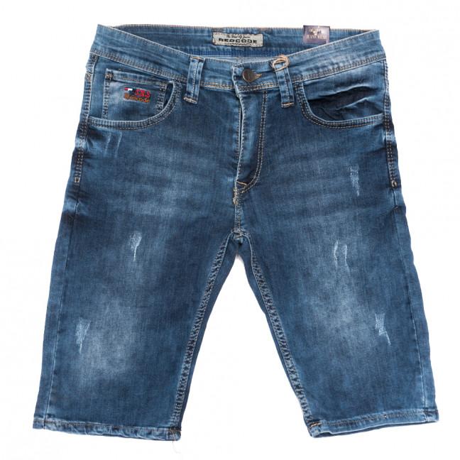 6753 Redcode шорты джинсовые мужские с царапками синие стрейчевые (29-36, 8 ед.) Redcode: артикул 1109008